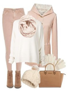 """""""Get Warm! (OUTFIT ONLY!) - Contest!"""" by asia-12 ❤ liked on Polyvore featuring Isotoner, River Island, URBAN ZEN, Steve Madden, Michael Kors, H&M, Lemon and Winter"""