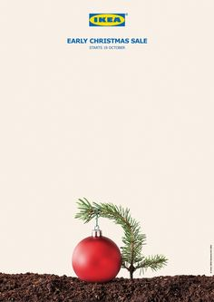 "IKEA print ad – ""Early Christmas Sale"". #creative #advertising"