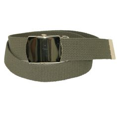 A classic fabric belt that goes with any casual outfit. The brass buckle adds a sharp look and the slide action is easy for their fingers to secure. 1.25 inches wide, it is made of sturdy cotton web fabric.