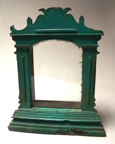 Early 1900's • Turquoise-painted wall niche