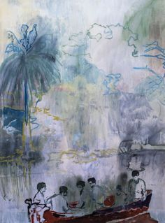 Peter Doig (b.1959). Imaginary Boys Pigment print in colours, 2013, signed and dated in pencil, numbered 294/500, on wove paper, with full margins,860 x 640 mm (33 7/8 x 25 1/4 in) Lot 147 in 'Editions and Works on Paper' sale at Dreweatts & Bloomsbury Auctions London saleroom -2 July 2015