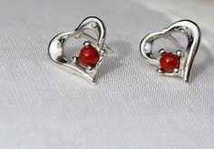Boucles d'oreilles corail rouge véritable de Corse et argent massif (b o 18) : Boucles d'oreille par les-tresors-de-la-corse