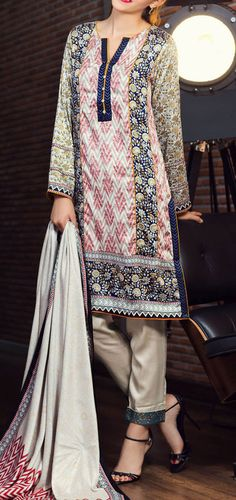 Buy Multicolor Printed Twill Viscose Linen Salwar Kameez by AlKaram 2015 Call: (702) 751-3523 Email: Info@PakRobe.com www.pakrobe.com https://www.pakrobe.com/Women/Clothing/Buy-Winter-Salwar-Kameez-Online #WinterSalwarkameez