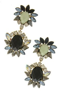 Specks of Opal Drop Earrings -Clarissa
