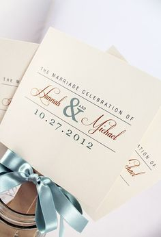 Fan Wedding Programs by JacquelineAnnInvites on Etsy, $3.25