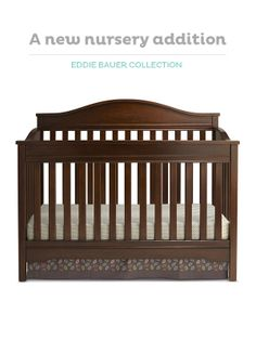 The Eddie Bauer Langley crib has it all—durability, quality and smart design.