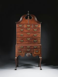 ... Arnold Queen Anne Shell Carved And Figured Mahogany High Chest Of  Drawers With Open Talons, Made By John Townsend, Newport, Rhode Island,  Dated 1756