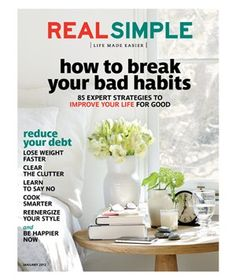 This is the best magazine on the market Thanks @Real Simple