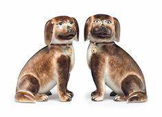 A pair of hound puppies, circa 1770
