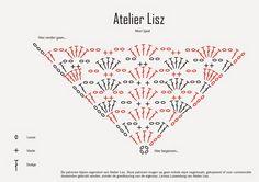 Atelier Lisz - Haken en haaknaald: De Mori Sjaal - Gratis Haakpatroon