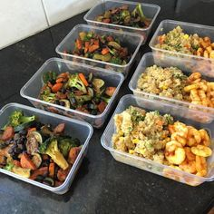 Meal prep handful of meals to get started. 1/ chicken teriyaki black bean stir fry 2/ vegetable quinoa with spiced prawns #meltfat #mealprep #highprotein #lowcarb #weightloss #leancarbs #healthy #shredfat #gains #musclegain #lean #cleaneating #delicious #dedication #fuel #goals #inspiration #instafitness #foodie #shred by nurse_ness
