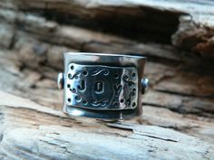 SOLD - JOY -  Bold/Heavy Sterling Silver Anticlastic Ring by barbmallonjewelry, $80.00