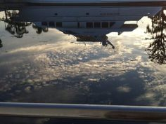 yacht reflected