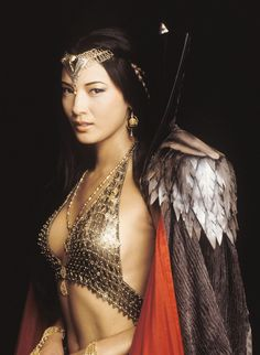 "Kelly Hu -- as Cassandra in ""The Scorpion King"".  Still remember her winning the Miss Teen USA pagaent as Hawaii's representative and the first Asian American winner!"