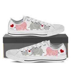 Big Elephant - Women's Low Top Canvas Sneakers - Vaisb.
