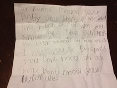 Ellen posted this on her facebook. Gotta start 'em young!! Hahah so precious. I wish a boy would have wrote me this note when I was little.
