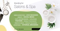 Our customized branding services for salons and spas makes sure your branding portrays your brand's personality.