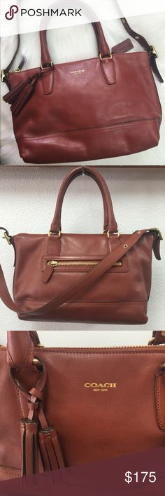"""COACH MOLLY LEATHER LEGACY SATCHEL BAG If you love the beautiful smell of leather - you'll LOVE this bag! No flaws. Used maybe once or twice. There is zero scratches of scuffs. Comes with dustbag, paperwork and original price tag. No trades. Height is 10"""" - 15"""" in length :) Coach Bags Satchels"""