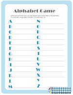 Free Printable Baby Shower Alphabet Game