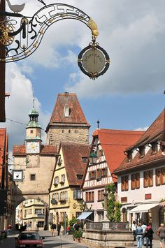Rothenburg ob der Tauber, Germany. My favorite place for weekend day out!!! Their gardens are so lush and peaceful