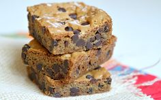 Easy Chocolate Chip Blondies