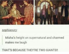 i mean, seriously people, they arent THAT tall. im as tall as jensen and my brothers are taller than jared. its not THAT huge. you all make a big deal out of it!
