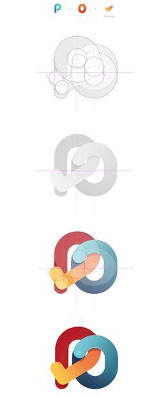Découvrez une sélection de 30 logos avec les grilles de construction durant la phase de recherche.