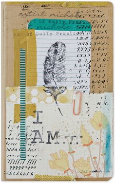 Nichole Rae's journal is full of daily affirmations to cultivate confidence and collect creativity. See the full article inside Art Journaling.