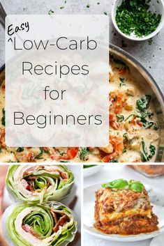 Easy Low-Carb Recipes for new Low-Carb dieters!