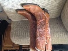 STEVE MADDEN LONESTAR BROWN LEATHER COWBOY BOOTS sz 7, EXCELLENT! $64.99