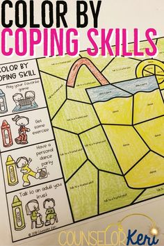 This color by coping skills activity is a great way to review coping skills with your students before the head home for summer! Review coping strategies that students can use when difficult situations arise in this hands-on activity! These are great for classroom guidance, small group counseling, and individual school counseling.