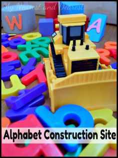 Alphabet Construction Site: Letter Recognition Activity for Preschoolers from My Nearest and Dearest