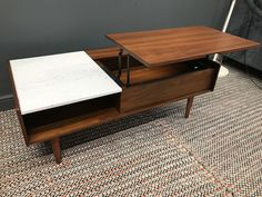 westelm mid century pop up storage coffee table