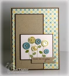 cute card w/ buttons