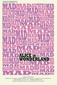 Alice in Wonderland (1951) - Minimal Movie Poster by Alex Eylar #minimalmovieposter #alternativemovieposter #alexeylar