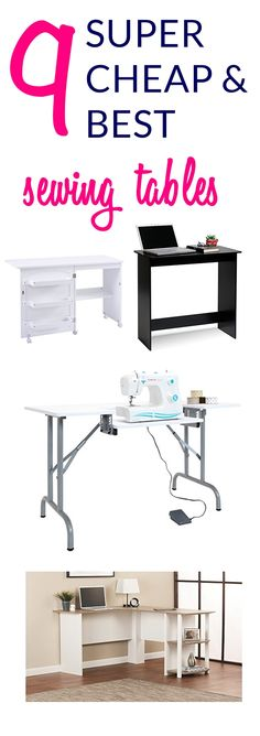 9 super cheap sewing tables for small spaces below 100