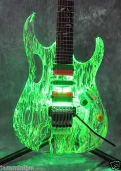 Clear Body Electric Guitar