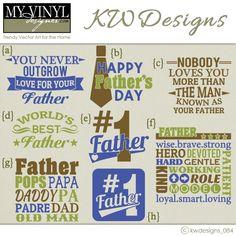 DIGITAL DOWNLOAD ... Father's Day vectors in AI, EPS, GSD, & SVG formats @ My Vinyl Designer #myvinyldesigner #kwdesigns