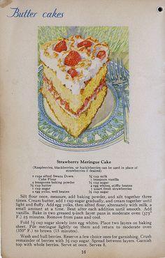 Swan's Down Strawberry Meringue Cake