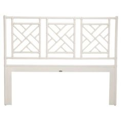 david francis furniture chinese chippendale openframe headboard finish white size queen