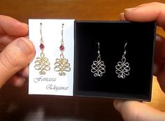 The Beading Gem's Journal: Wire Wrapped Christmas Tree Earrings Tutorial