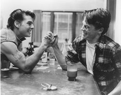 Tom Cruise Rob Lowe The Outsiders.. Rob looked incredibly handsome and hot in this movie