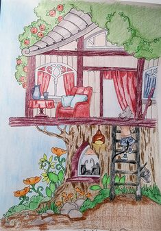 Debbie Macomber Coloring Book Fresh Nice Little town 6 Kim Rinehart Colorist Debbie Macomber, Coloring For Kids, Adult Coloring, Keane Big Eyes, Coloring Tutorial, Fairy Art, Coloring Book Pages, Animal Drawings, Colored Pencils