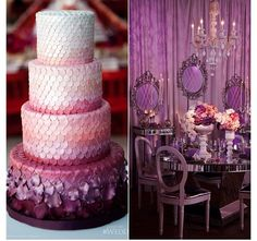 #purple #weddings #cake