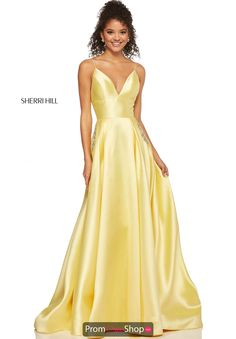 Sherri Hill - 52597 Sleeveless Satin V-Neck Beaded Dress Deb Dresses, Cute Prom Dresses, Long Prom Gowns, Plus Size Prom Dresses, Ball Dresses, Elegant Dresses, Formal Dresses, Satin Dresses, Dance Dresses