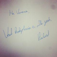 Richard de Leth van Oersterk heeft mijn recensie exemplaar ondertekend, gaaf!