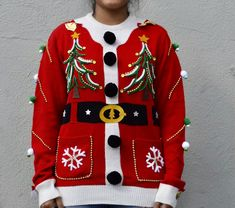Ugly Xmas Sweater, Ugly Christmas Sweater Women, Funny Christmas Sweaters, Tacky Christmas, Funny Sweaters, Christmas Tree, Country Christmas, Christmas Crafts, Funny Christmas Outfits
