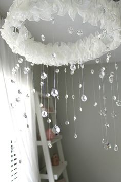 Crystal Mobile by BrookeWhitneyDesigns on Etsy, $125.00