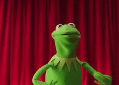 Kermit losing his cool.
