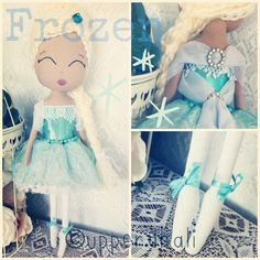 Inspired By Elsa from Disney Frozen - handmade doll by Upper Dhali